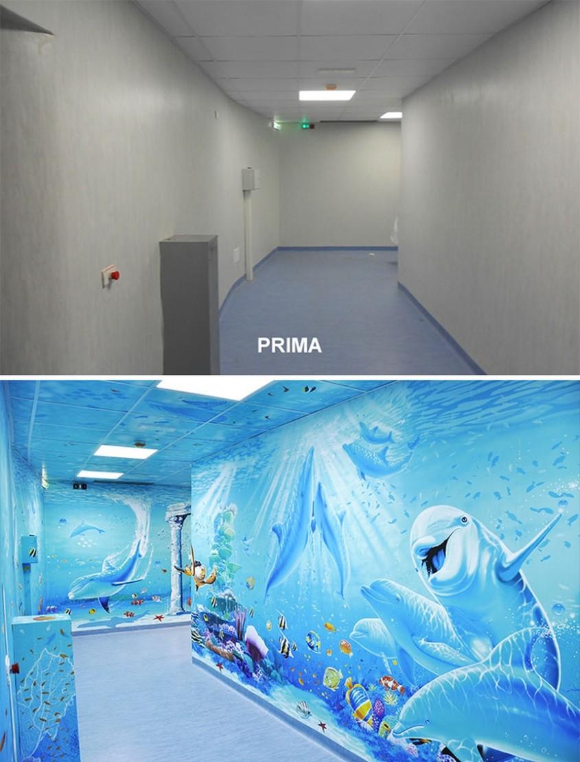 Un artist transformă spitalele în tărâmuri magice pentru copii