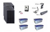 Sistem fotovoltaic off-grid Poweracu 3kwp prindere tigla