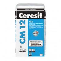 Adeziv armat cu fibre, cu consistenta plastic fluida, pentru placari ceramice - CM 12