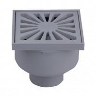 Sifon de pardoseala DN50 vertical 94 x 94 mm din plastic - HL93