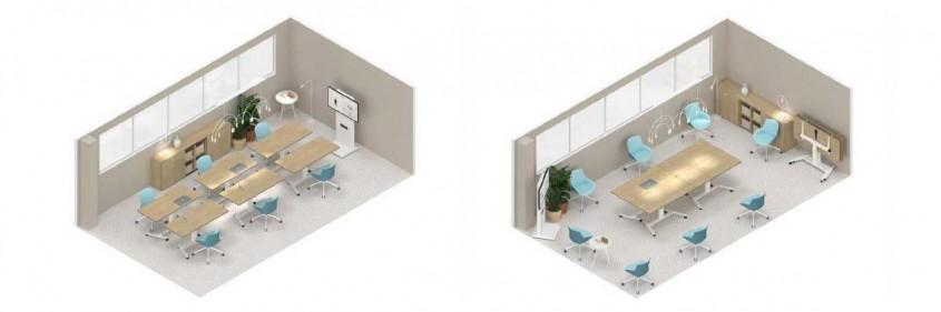 Soluții de (re)amenajare a spațiilor pentru birouri în contextul COVID-19