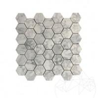 Mozaic Marmura Bianco Carrara HexagonSmall Mata MPN-1995