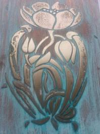 Sablon decorativ 3D Peony Flower, reutilizabil