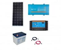 Kit Fotovoltaic Off-Grid 100W cu invertor de 250VA