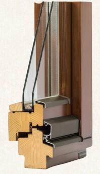 Fereastra din lemn stratificat - profil 70 mm
