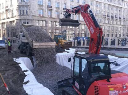 ENERGOCELL - material folosit ca umplutura cu greutate redusa pentru planseul unui garaj subteran Budapesta SUPERMATERIALE