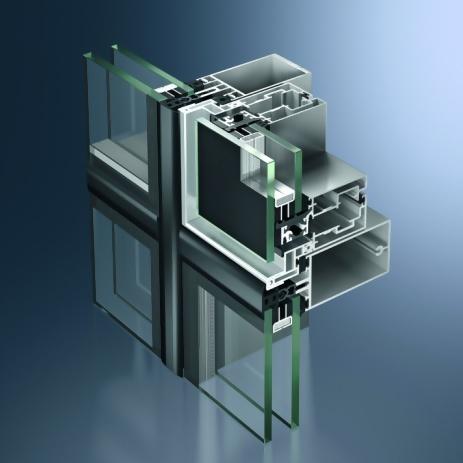 Profil din aluminiu pentru pereti cortina - Schüco FW 60+ SG.SI