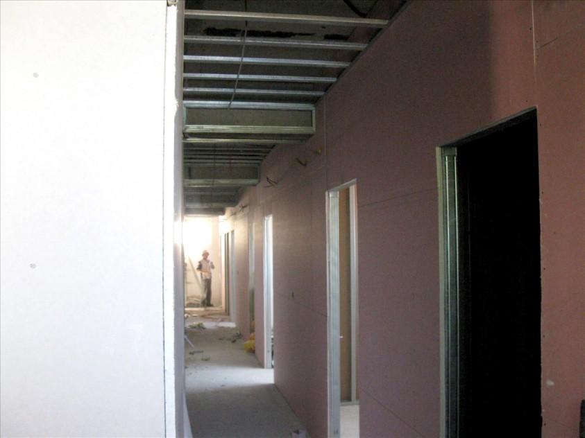 Interiorul cinematografului in timpul lucrarilor de modernizare  Suceava SAINT-GOBAIN CONSTRUCTION PRODUCTS ROMANIA - DIVIZIA RIGIPS