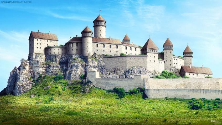 Cum arătau în vremurile de glorie 7 castele în ruină din Europa printre care şi Cetatea