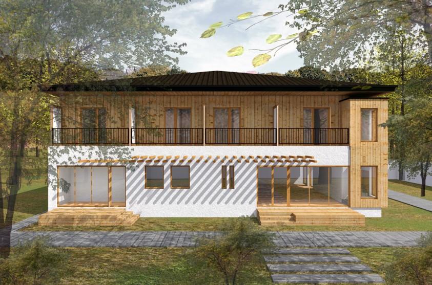 Pensiune 12 camere - Comandau - Covasna - Vedere din fata  Covasna AsiCarhitectura