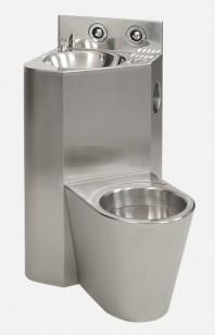 Combinatie de lavoar si vas WC din otel inox - SANELA SLWN 18ZL
