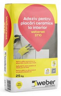 Adeziv pentru placari ceramice la interior - weberset ST10