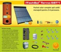 Pachet solar (kit) complet apa calda menajera pentru 5-6 persoane - ITechSol® Termo 56T1