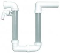 Sifon pentru condens, racord intrare orizontal D40 si evacuare orizontal D40 mm - HL136.2