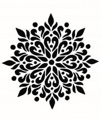 Sablon decorativ 3D, Mandala Siri, reutilizabil