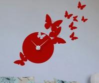 "Sticker tip ceas de perete ""Fluturi"""