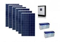 Sistem fotovoltaic Poweracu Off-Grid 1.5kwp cu invertor 3kva si stocare