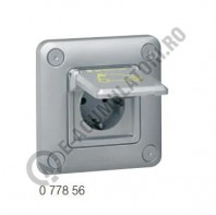 Priza metalica Green'up Access 3kw - IP55-IK10 - std German cu capac blocat