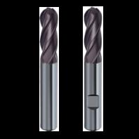 Freza cilindro-frontala din carburi 4 dinti, cap sferic