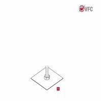 Suport clema metalic Z-PEN VFC® conductor paratrasnet