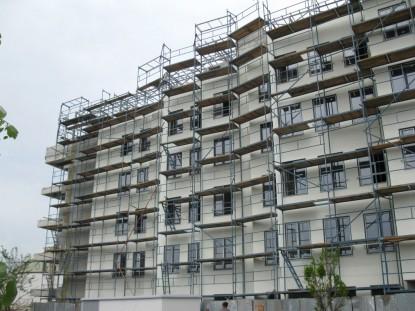Maternitatea Regina Maria - fatada in timpul lucrarilor de amenajare Bucuresti SAINT-GOBAIN CONSTRUCTION PRODUCTS ROMANIA -