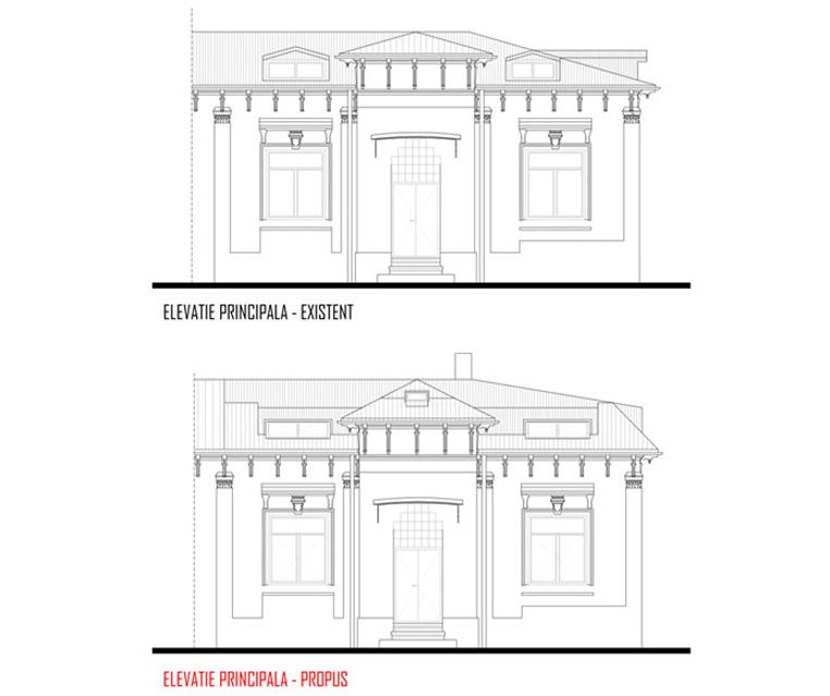Remodelare mansarda locuinta existenta P+M - Bucuresti, str Ioan Bianu AsiCarhitectura