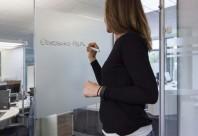 EBL 300 - Folie pentru aplicare pe sticla cu aspect sablat si suprafata whiteboard