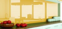 Sticlă lăcuită de înaltă durabilitate SGG PLANILAQUE EVOLUTION pentru amenajarea de pereți vitrați în bucătării