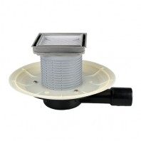 Sifon orizontal pentru balcoane si terase DN40/50 - HL90-3020