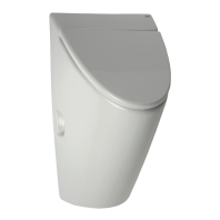 Pisoar Arq cu unitate de spalare cu senzor radar, cu capac - SANELA SLP 32RZ