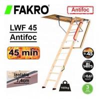 Scara din lemn pentru acces in pod, rezistenta la foc - FAKRO LWF