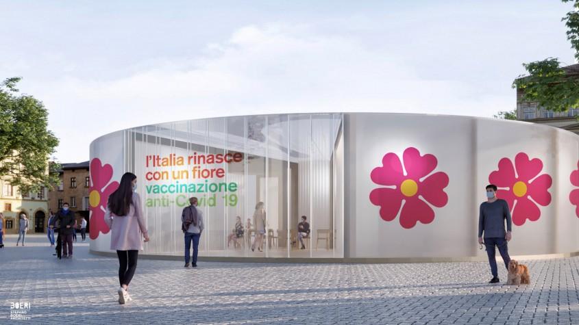 Cum arată centrele de vaccinare împotriva COVID-19 create de un cunoscut arhitect italian