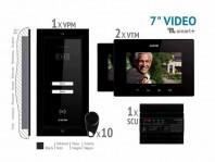 Kit video SMART+ 7'', panou incastrat - VKM.P2FR.T7S4.ELB04