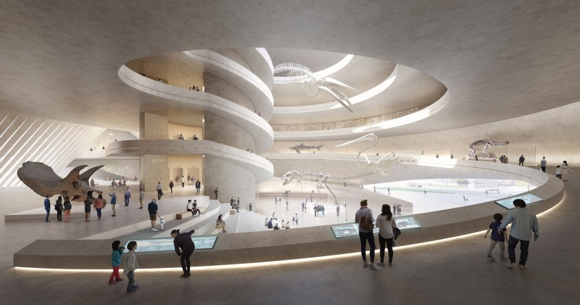"""Muzeul de Istorie Naturală din Shenzhen """"curge"""" asemenea unui râu"""