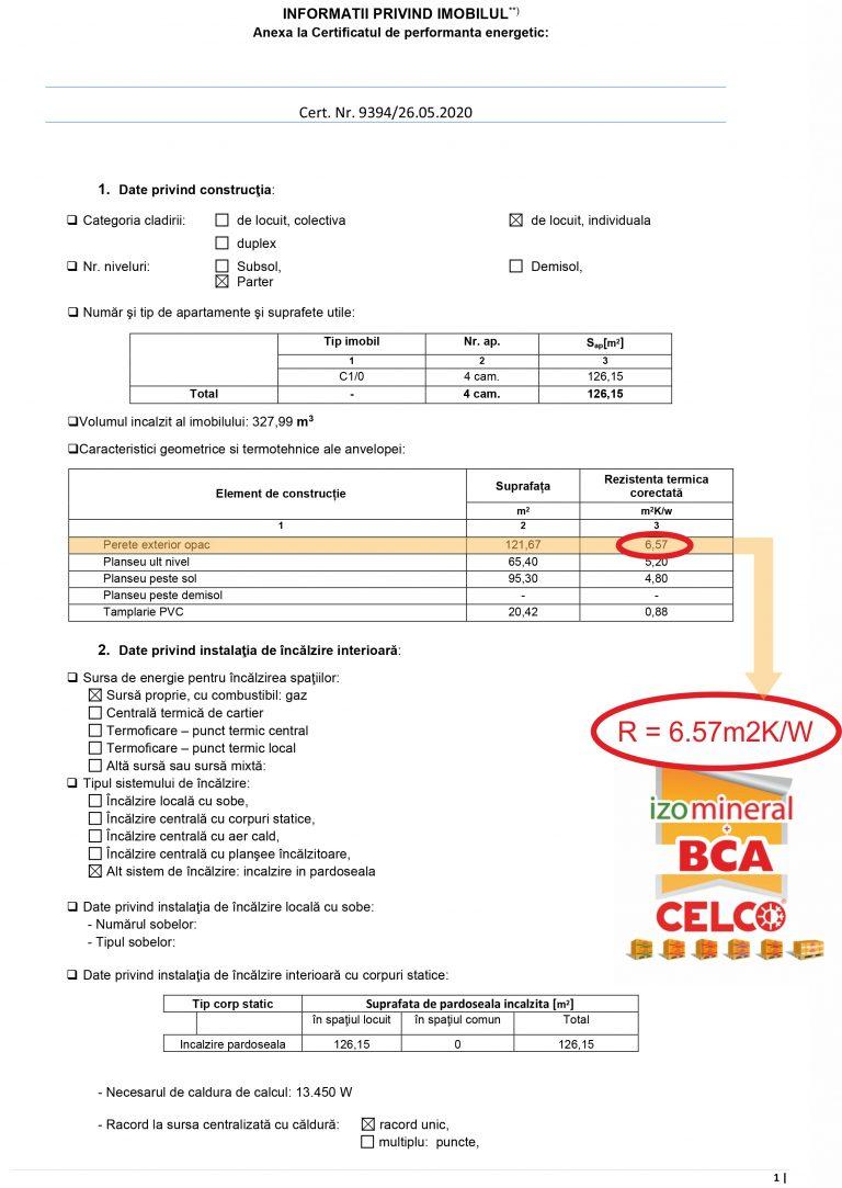 Ziua în care CELCO ți-a oferit Certificatul energetic clasa A pentru casa ta!