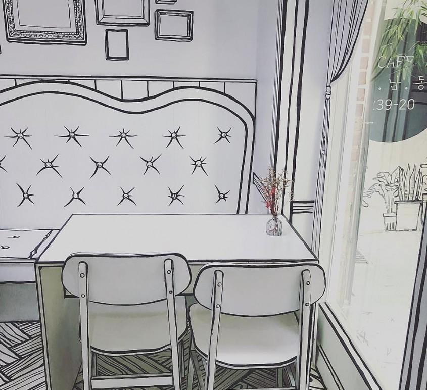 În această cafenea te simți ca un personaj de desene animate