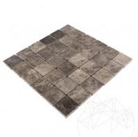 Mozaic Marmura Dark Emperador Polisat 4.8 x 4.8cm - Lichidare stoc MPN-4382