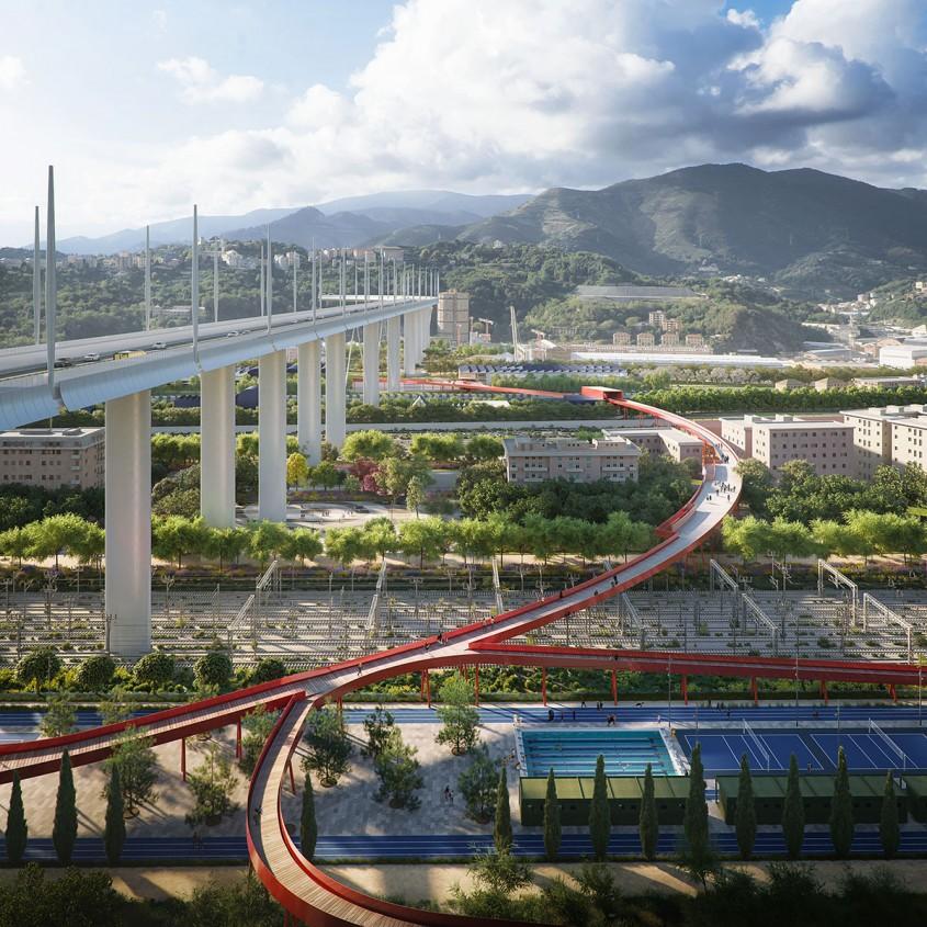 Renașterea zonei podului Morandi, la un an de la tragedie (Foto)