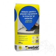 Adeziv pentru placari piatra naturala la interior si exterior - Weber Set EX25 Max²  APN-1007