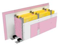 Perete SL250, CW75@60, 2x1 Standard 12.5 + 2x1 FLAM PLUS 12.5 + MW