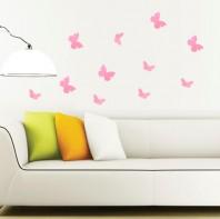 Fluturi 3D Roz Rotunjiti - WALPLUS