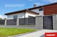 Panou gard metalic rezidential - KONSPORT Palisade P82