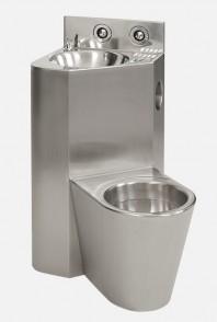 Combinatie de lavoar si vas WC din otel inox - SANELA SLWN 08ZP