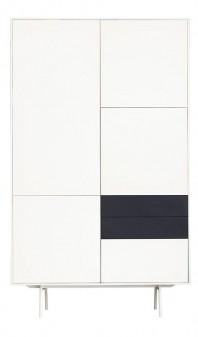Dulap dormitor, cu trei sertare - Grey and White