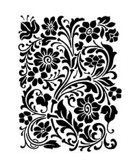 Sablon decorativ 3D, Intricate Flower, reutilizabil