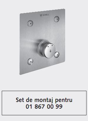 Baterie cu montare in perete pentru dus SCHELL LINUS BASIC D-SC-M