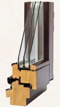 Fereastra din lemn stratificat - profil 78 mm