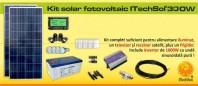 Kit (sistem) solar fotovoltaic ITechSol® 300 W - KIT300WM12VINV1000