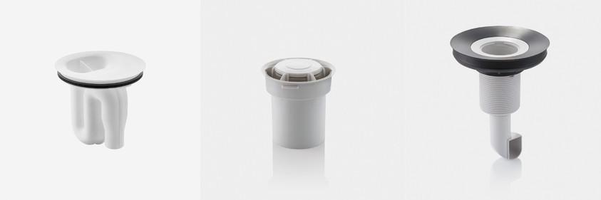 Sifon de aspirare Geberit pentru volume de spălare obişnuite Sifon hibrid Geberit pentru pisoar cu funcţionare