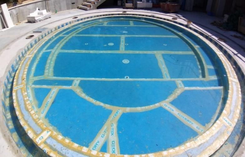 Hidroizolarea piscinelor cu membrana G-TEX AIRFULL